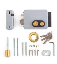 Замок накладной электромеханический VIRO8977.712.1 Block Out Кн 12V(с кнопкой, внутреннего открывания, 3 ключа, правый)