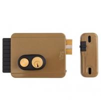Замок накладной электромеханический VIRO1.7972.712.1 V05 Кн 12V (с кнопкой, внутреннего открывания, 3 ключа, правый)