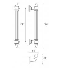 "Ручка-скоба парадная Venezia ""IMPERIONE"" (античная бронза, 365 мм/235 мм)"