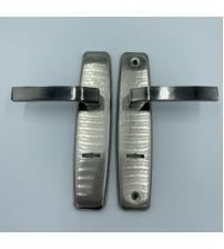 Ручка на планке для сувальдного замка ChenFeng 1451H- L (левая, никель)