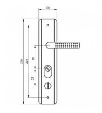 Ручка на планке ZAMKOFF 68-А (универсальная)
