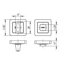 Фиксатор PUNTO BK6 QR GR/CP-23 (графит/хром)