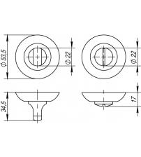 Фиксатор PUNTO BK6 TL ABG-6 (бронза)