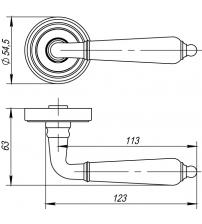 "Ручки раздельные PUNTO ""LIBRETTO"" ML ABG-6 (бронза)"