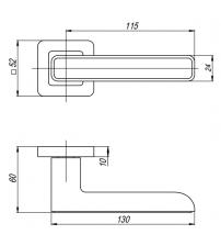 """Ручки раздельные PUNTO """"MARS"""" QR SN/CP-3 (матовый никель/хром)"""
