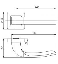 """Ручки раздельные PUNTO """"ORION"""" QR SN/CP-3 (матовый никель/хром)"""