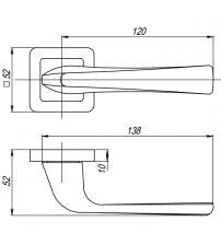 """Ручки раздельные PUNTO """"SATURN"""" QR GR/CP-23 (графит/хром)"""