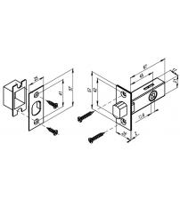 Задвижка врезная PUNTO DB-45 ABG (бронза)