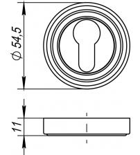 Накладка на цилиндр PUNTO ЕТ ML ABG-6 (бронза)