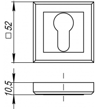 Накладка на цилиндр PUNTO ЕТ QL ABG-6 (бронза)