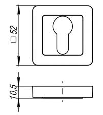 Накладка на цилиндр PUNTO ЕТ QR GR/CP-23 (графит/хром)