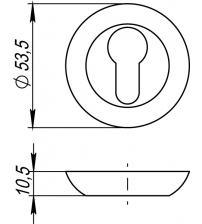 Накладка на цилиндр PUNTO ЕТ TL ABG-6 (бронза)