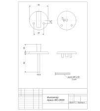 Фиксатор Apecs WC-0608-CR (хром, для финских дверей)