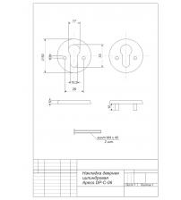 Накладка цилиндровая Apecs DP-C-06-CR (хром, для финских дверей)