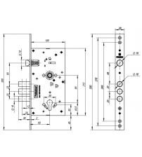 Корпус замка врезного FUARO V25/C-60.85.3R16