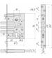 Корпус замка врезного CRIT ЗВ-A8 /03105/ (автоматическое запирание, без цилиндрового механизма)