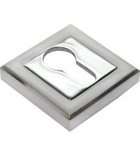 Накладка на цилиндр MEDIO LMA ЕТ 52 MSB/CP (матовый никель/хром)