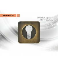 Накладка на цилиндр MEDIO ЕТ-88 ВN/СР (чёрный/хром)