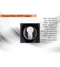 Накладка на цилиндр MEDIO L-09 ЕТ SN/GP (никель/золото)
