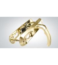 Ручки на планке к замку CRIT ЗВ - A8 Р85-9090-У золото