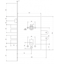 Корпус замка врезного Apecs T-34-CR (C001, хром)