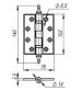 Петля латунная ARMADILLO Сastillo CL-500 А-4 102х76х3,5 ОВ-13 (античная бронза)