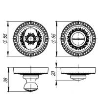 Ручка поворотная ARMADILLO CLASSIC WC-Bolt BK-6/CL ABL-18 (тёмная медь)