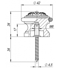 Упор дверной FUARO DS SM01 AB-7 (матовая бронза)