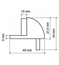 Упор дверной Apecs DS-0002-AB (бронза)