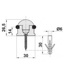Упор дверной напольный PUNTO DS PF-26 ABG-6 (бронза)