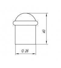 Упор дверной напольный PUNTO DS PF-40 ABG-6 (бронза)