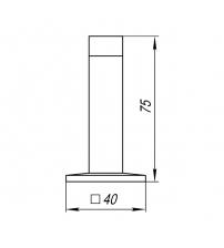 Упор дверной настенный PUNTO DS PW-75 ABG-6 (бронза)