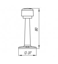 Упор дверной настенный PUNTO DS PW-80 ABG-6 (бронза)