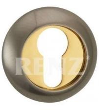 Накладка на цилиндр RENZ ET (N) 08 SN/GP (матовый никель/золото)