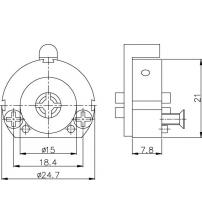 Ц/М KALE KILIT 164/FB mm для замков с крестообразными ключами (5 ключей)