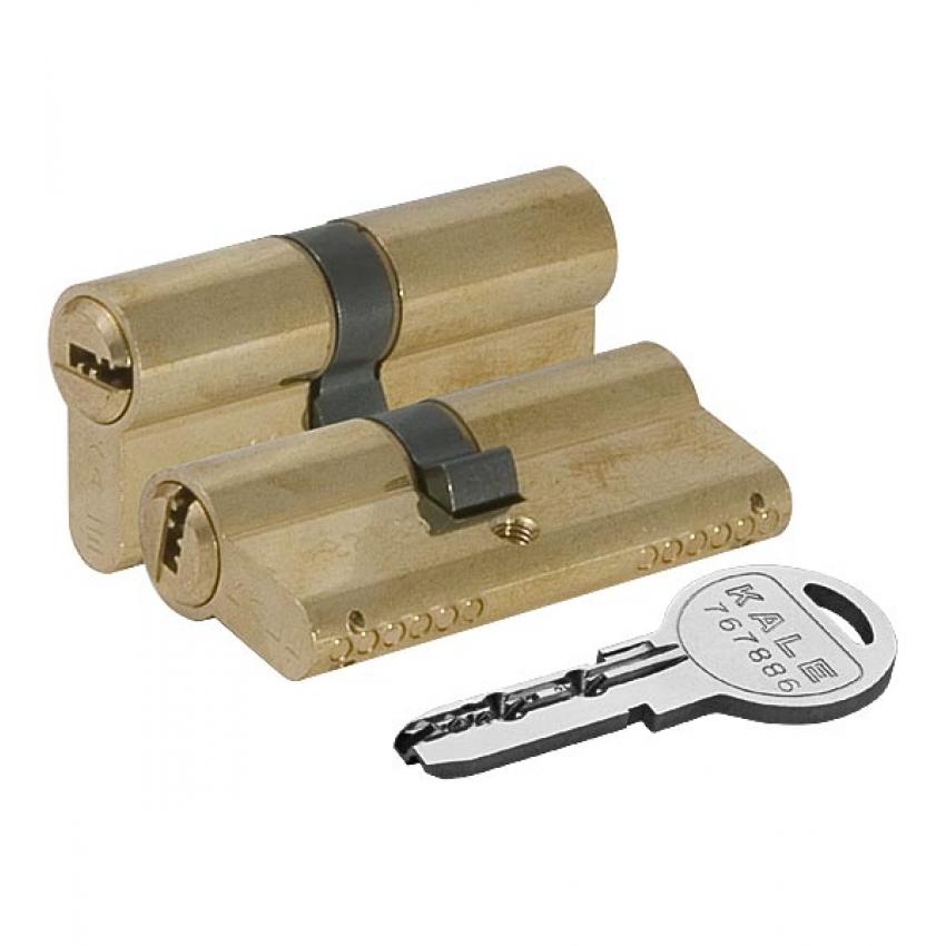 Ц/М KALE KILIT 164 SN/80 mm (35+10+35) латунь 5 ключей