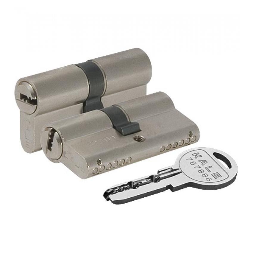 Ц/М KALE KILIT 164 SN/90 mm (35+10+45) никель 5 ключей
