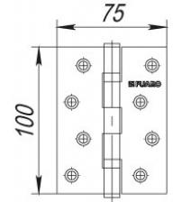 Задвижка врезная FUARO DB 867/67 мм CP (хром)