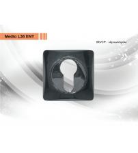 Накладка на цилиндр MEDIO L-36 ЕТ ВN/СР (чёрный/хром)