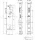Корпус узкопрофильного замка с защёлкой FUARO 4916-25/92 СР (хром)