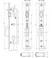 Корпус узкопрофильного замка с роликом FUARO 5116-35 СР (хром)