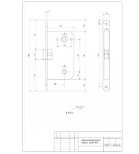 Защёлка межкомнатная Apecs 5300-WC-AB (бронза)