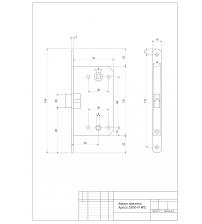 Защёлка врезная Apecs 5300-P-WC-AB (бронза)