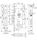 Корпус замка FUARO 900 3МR/СР W/B (хром)