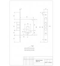 Замок врезной Apecs 91/60-CR (91/60 хром)
