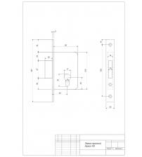 Замок врезной Apecs 95/60-CR (хром)