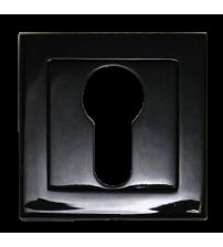 Накладка на цилиндр Leo ENT 02 SBL (матовый чёрный)