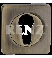 Накладка на цилиндр RENZ ЕТ 02 AB (античная бронза)