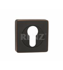 Накладка на цилиндр RENZ ЕТ 02 ABB (чёрная бронза с патиной)