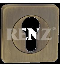 Накладка на цилиндр RENZ ЕТ 02 MAB (матовая античная бронза)
